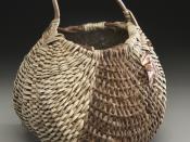 English: A kudzu basket made in the Applachian Oriole style by basketmaker Matt Tommey.