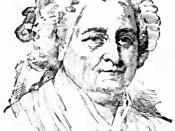 English: Portrait drawing of Martha Washington, wife of George Washington, first President of the United States