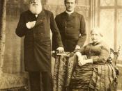 English: Emperor Pedro II of Brazil with his grandson Pedro Augusto and his wife Teresa Cristina.