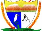 Coat of arms of the state of Roraima, Brazil.