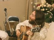 John Lennon rehearses Give Peace A Chance by Roy Kerwood