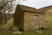 Stone house in Kinder Scout