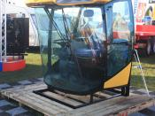English: A complete cab assembly ready to fit to custom built machines available from a supplier to OEMs (original equipment manufacturers), taken at the LAMMA show (Lincolnshire Agricultural Machinery Manufacturers Association Show) in 2009, England. – T