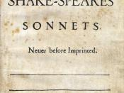 English: Title page of Shakespeare's Sonnets (1609)