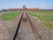 Rail leading to the concentration camp Auschwitz II (Birkenau)