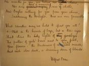 Wilfred Owen's Anthem For Dead Youth (later published as Anthem For Doomed Youth) at the Bodleian Library, Oxford