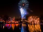 English: Fireworks over Copenhagen the night before New Year's Eve