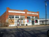 A former grocery store in Penelope, Hill County, Texas