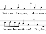 Music and lyrics to Frère Jacques