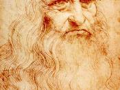 English: Self-portrait of Leonardo da Vinci. Red chalk. 33 × 21 cm. Turin, Royal Library (inv.no. 15571). NOTE This image is in red chalk. Do not revert to the black and white image. Deutsch: Kopf eines bärtigen Mannes, sog. Selbstbildnis.