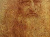 Self-portrait by Leonardo da Vinci, executed in red chalk sometime between 1512 and 1515
