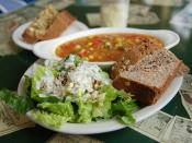 lunch at benevolence cafe