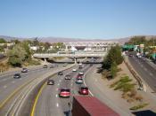 English: I-80 through downtown Reno, Nevada
