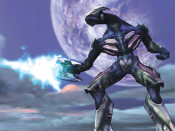 An Sangheili, as it appeared during Halo s production in 1999.
