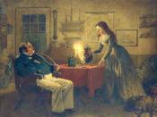 English: Captain Cuttle and Florence Dombey, Charles Dickens'