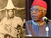 English: Montage of Igbo people which include: Olaudah Equiano, aka Gustavus Vassa, Jaja of Opobo (1821–1891)Chinua Achebe and Chimamanda Ngozi Adichie