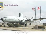 This is a watercolor painting of the scene at Connie Park, which is located in the AWACS area of Tinker Air Force Base.