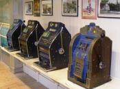 English: Slot machines at Wookey Hole Caves
