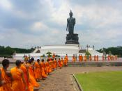 Buddha in Phutthamonthon (Buddhist park in the Phutthamonthon district, Nakhon Pathom Province of Thailand).