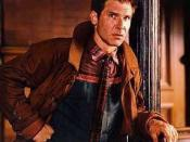 Rick Deckard portrayed by Harrison Ford in the film ''Blade Runner