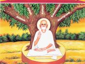 English: This image illustrates the Mahavrata or the five great vows of a Jain ascetic