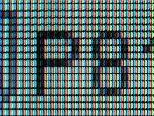 A closeup of pixels.