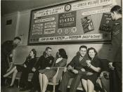 Soldiers and women socializing at the 65th Street J.W.B. Club, New York City