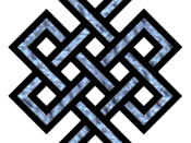 English: Tibetan endless knot Nederlands: Tibetaanse Oneindige knoop