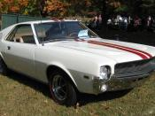 English: 1968 AMX, a muscle car in the Grand Tourer (GT-style) sports car, made by American Motors Corporation (AMC). This car is finished in
