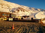 English: Base facilities at Treble Cone skifield in New Zealand