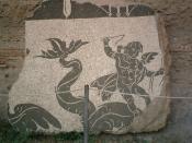 Bodenmosaik in den Caracalla-Thermen Rom