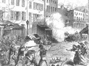 Depiction of the Draft Riots in 1863 from an unidentified periodical.