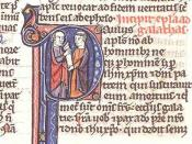 Opening of the Epistle to the Galatians, illuminated manuscript for reading during Christian liturgy.