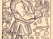 English: Frontispiece woodcut from the 1489 Spanish edition of Aesop's Fables (Fabulas de Esopo) depicts Aesop surrounded by images and events from the Life of Aesop by Planudes.