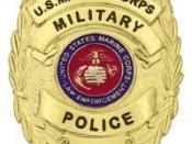 English: USMC Police Officer Source http://buperscd.technology.navy.mil/bup_updt/508/unireg/chapter5/CHAPTER_5.htm