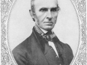 English: Black-and-white bust portrait of John Greenleaf Whittier in 1859 in an oval frame.