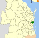 Location of the Local Government Area in Queensland