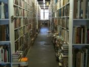 Just one of the dozens of aisles of books at Booked Up in Archer City, Texas]]