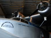 English: Howard Hughes' Spruce Goose test plane, the S-43 Sikorsky, at Brazoria County Airport, Texas.