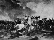 English: Richard III and the Earl of Richmond During the Battle of Bosworth