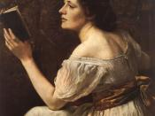 Otto Scholderer's Young Girl Reading (1883); in Mary, Wollstonecraft criticizes women who imagine themselves as sentimental heroines.