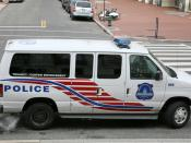 DC Police Truancy and Curfew enforcement vehicle. Washinton D.C., USA.