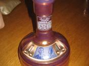 A bottle of Samuel Adams Utopia beer