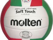 A Molten indoor volleyball