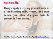 Hair Care Tip: Apply A Styling Product Before You Blow Dry Your Hair