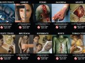 Imagens educativas em maços de cigarro obrigatórias no Brasil a partir de 2009.