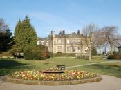 English: The Grange, Burley in Wharfedale Once used as an education centre, now empty awaiting decision as to its future
