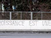Anti-WEF grafitti in Lausanne, Switzerland, after the 2004 WEF in Evian (France). The writting reads: