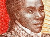 Français : portrait de Toussaint Louverture sur billet de banque haïtien