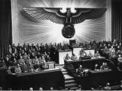 Adolf Hitler addressing the Reichstag with his speech against Franklin D. Roosevelt, December 11, 1941